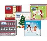 Regina Vánoční papírové ubrousky Světle zelené, Santa 1 vrstvé 33 x 33 cm 20 kusů