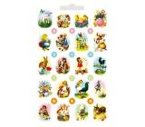 Arch Velikonoční vodové obtisky na vajíčka s glitry beránek 32 obrázků 15 x 11 cm