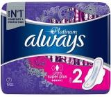 Always Platinum Ultra Super Plus velikost 2 hygienické vložky s křidélky 7 kusů