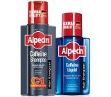 Alpecin Energizer Coffein C1 Kofeinový šampon na vlasy 250 ml + Energizer Liquid Tonikum zvyšuje produktivitu vlasových kořínků 75 ml, duopack