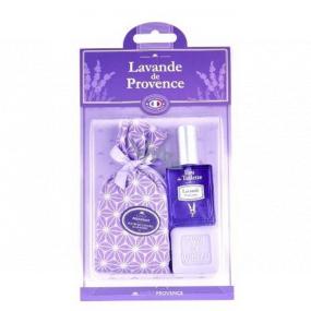 Esprit Provence Levandulový vonný pytlík 5 g + toaletní voda pro ženy 12 ml + toaletní mýdlo 25 g, dárková sada