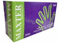 Maxter Rukavice hygienické jednorázové latexové hypoalergenní pudrované, velikost S, box 100 kusů