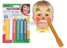 Amos Face Deco Barva na obličej a tělo sada 6 barev