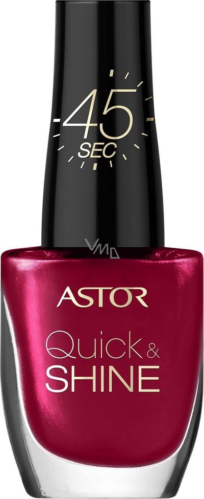 Astor Quick & Shine Nail Polish lak na nehty 301 Valentines Day 8 ml