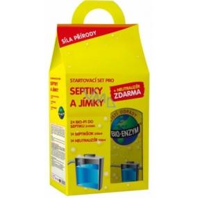 Bio-Enzym Startovací Set pro septiky a jímky 2 x Bio-P1 do septiku 2 x 100 g + 1 x septišok 200 ml + 1x neutralizér zápachu 100 ml