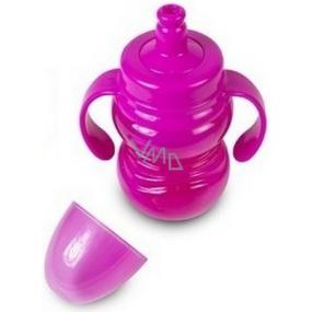 First Steps Sipper Cup 12+ láhev dětská růžová se sosákem a dvěma uchy 300 ml