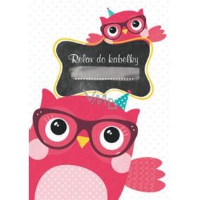 Ditipo Relax do kabelky Sova zápisník 15 x 10,5 cm