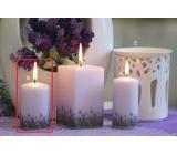 Lima Lavender svíčka světle fialová válec 60 x 90 mm 1 kus