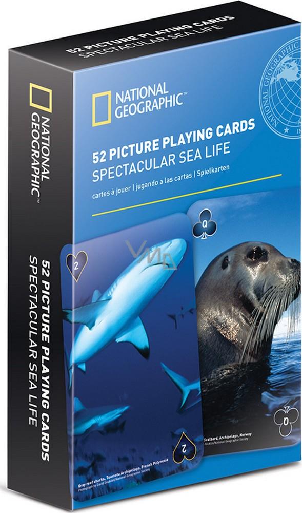 If National Geographic Playing Cards Hraci Karty Morsky Svet Ng 52