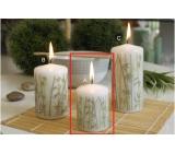 Lima Bambus svíčka bílá válec 50 x 70 mm 1 kus