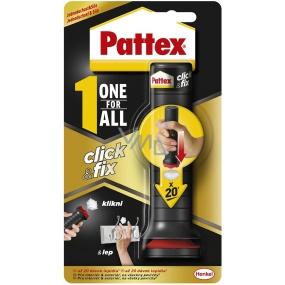 Pattex One For All Click & Fix univerzální montážní lepidlo se snadnou aplikací až 20 dávek 30 g