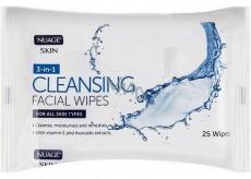 Nuagé Skin Cleansing Facial Wipes 3v1 vlhčené odličovací ubrousky 25 kusů