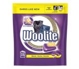 Woolite Dark Black & Denim gelové kapsle s keratinem na tmavé a černé prádlo, odstraní skvrny, ochrana před ztrátou tvaru a zachování intenzity barvy XL 35 kusů