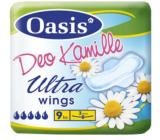 Oasis Ultra Wings Deo Kamille ultra tenké parfémované hygienické vložky s křidélky 9 kusů