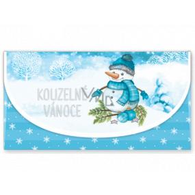 Nekupto Přání obálka na peníze vánoční Sněhulák 116 x 220 mm