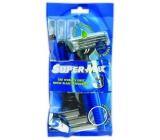 Super-Max Long Handle jednorázový holící strojek 3 břitý pro muže 5 kusů