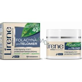 Lirene Folacin Intense 40+ noční regenerační krém proti vráskám 50 ml