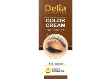 Delia Cosmetics Color Cream barvící krém na obočí s arganovým olejem 4.0 Brown 15 ml + 15 ml