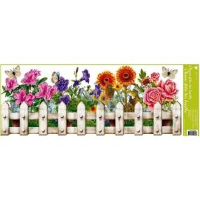 Okenní fólie bez lepidla truhlíkové květiny plotek 60 x 22, cm