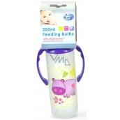 First Steps Jungle Hroch 0+ kojenecká láhev s úchopy 250 ml