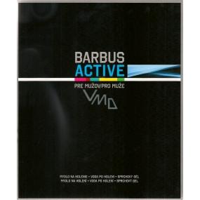 Barbus Active Man mýdlo na holení 150 g + voda po holení 100 ml + 2v1 sprchový a vlasový gel 250 ml, kosmetická sada