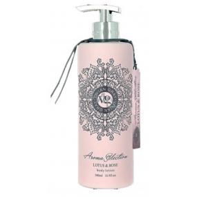 Vivian Gray Aroma Selection Lotus & Rose krémové tělové mléko s dávkovačem 500 ml