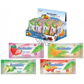 Freshmaker Wet Wipes Fruit kosmetické vlhčené ubrousky 15 kusů
