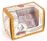 Albi Great Minds Shakespear dřevěný hlavolam 4,8 cm × 4,8 cm × 7,6 cm