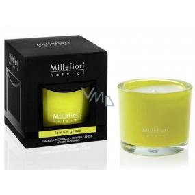 Millefiori Milano Natural Lemon Grass - Citrónová tráva Vonná svíčka hoří až 60 hodin 180 g