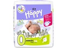 Bella Happy 0 Before Newborn od 0 - 2 kg plenkové kalhotky propředčasně narozené dětia pronovorozence snízkou porodníváhou 46 kusů