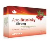 Apotex Strong brusinky přírodní velmi silné antioxidanty 500 mg 12 kapslí