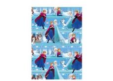 Ditipo Dárkový balicí papír 70 x 200 cm Vánoční Disney Ledové království modrý