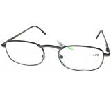 Berkeley Čtecí dioptrické brýle +4,0 šedé kov 1 kus MC2005