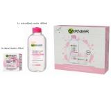 Garnier Botanical Cream s růžovou vodou krém pro suchou a citlivou pleť 50 ml + micelární voda 3v1 pro citlivou pleť 400 ml, kosmetická sada