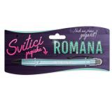 Nekupto Svítící propiska se jménem Romana, ovládač dotykových nástrojů 15 cm