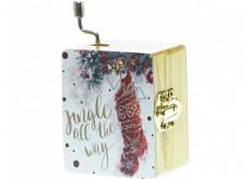 Epee Vánoční hrací skříňka Jingle Bells - Rolničky, rolničky 5,5 x 6,6 x 3,6 cm