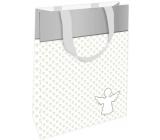 Nekupto Dárková papírová taška 11 x 17,5 x 8 cm Anděl pro štěstí 002 IE