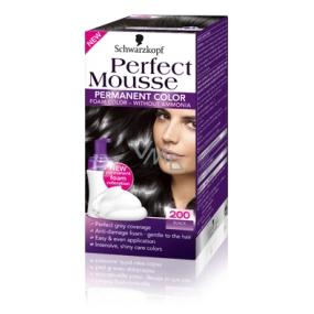 Perfect Mousse Permanent Color barva na vlasy 200 Černý