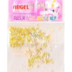 Angel Ozdoby na nehty kousky žluté 1 balení