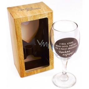 Albi Sklenička na víno Všechno nejlepší 220 ml