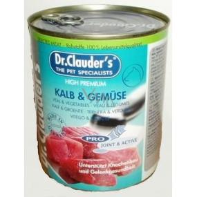 Dr. Clauders Telecí maso, játra, srdce, plíce a zelenina pro dospělé psy 800 g