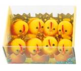 Kuřátka plyšová s peříčkem 3 cm 8 kusů v krabičce