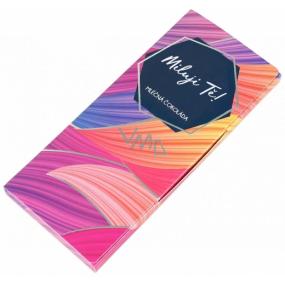 Albi Dárková mléčná čokoláda Miluji Tě 50 g 14 x 6 cm
