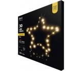 Emos Hvězda na stojánku 33 x 13 cm, 30 LED teplá bílá + časovač
