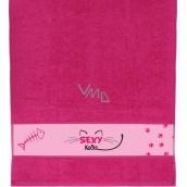 Albi Ručník Sexy kočka růžový 90 x 50 cm