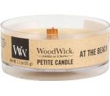 WoodWick At the Beach - Na pláži vonná svíčka s dřevěným knotem petite 31 g