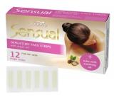 Joanna Sensual Argan Oil depilační pásky na obličej pro suchou pleť 12 kusů