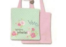 Nekupto Buď Jedinečná nákupní taška Kytky 003 NNT