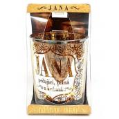 Albi Třpytivý svícen ze skla na čajovou svíčku JANA, 7 cm