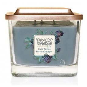 Yankee Candle Dark Berries - Ostružiny sojová vonná svíčka Elevation střední sklo 3 knoty 347 g